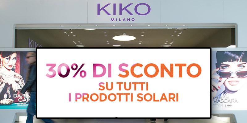 sconto prodotti solari KIKO