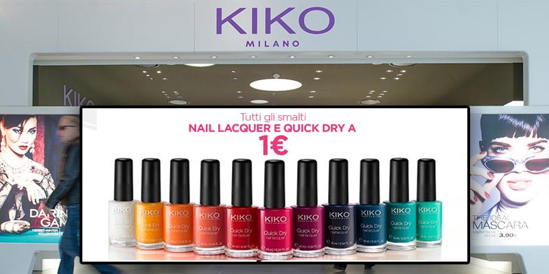 smalti KIKO a 1 euro in negozio e online