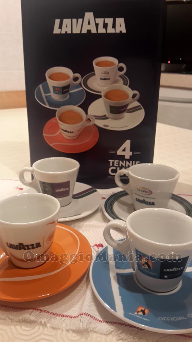 tazzine caffè Lavazza Tennis Cup di Monica