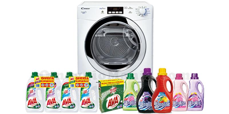vinci asciugatrice Candy con Ava e Woolite