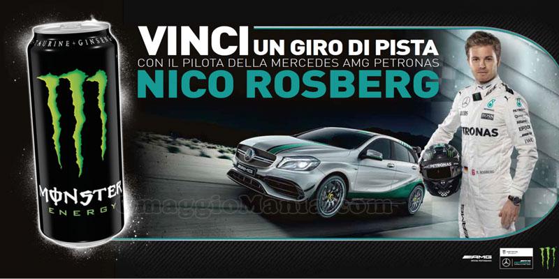vinci un giro di pista con Nico Rosberg con Monster