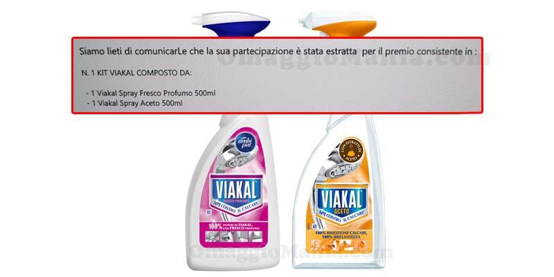 vincita kit Viakal Spray di Valentina