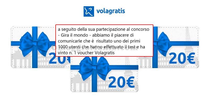 vincita voucher Volagratis con Cariparma