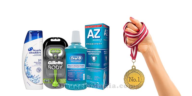 Indovina il medagliere Desideri Magazine kit di prodotti P&G