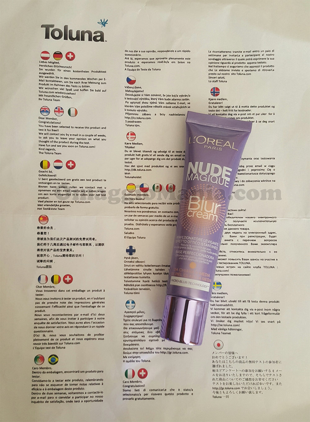 L'Oréal Nude Magique Blur Cream di Sole