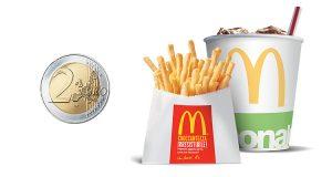 Mc in Time patatine e bibita 2 euro