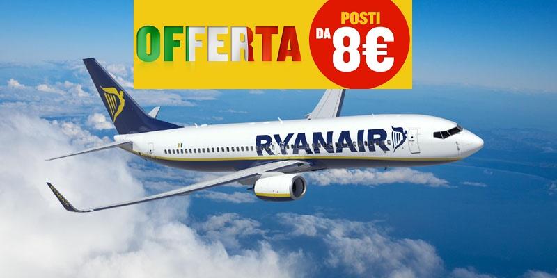 Ryanair posti da 8 euro