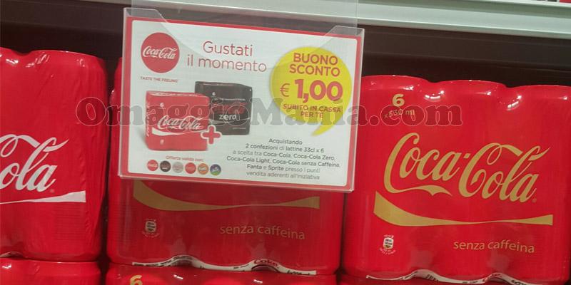 buoni sconto Coca Cola nei supermercati