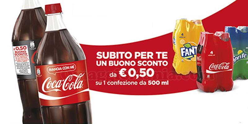 buoni sconto Coca Cola sulle bottiglie