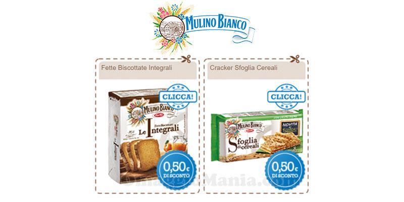 buoni sconto Mulino fette biscottate crackers