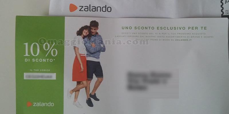 buono sconto Zalando via posta
