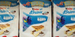 card stacca e attacca Alla ricerca di Dory con Kinder Brioss