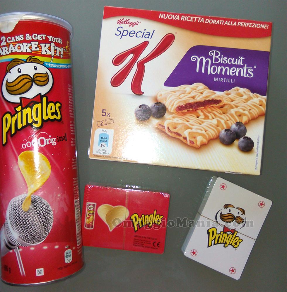 carte da gioco Pringles omaggio di Francesca
