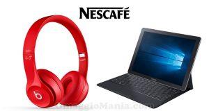 concorso Nescafé vinci cuffie Beats Solo2 e Samsung Galaxy TabPro S