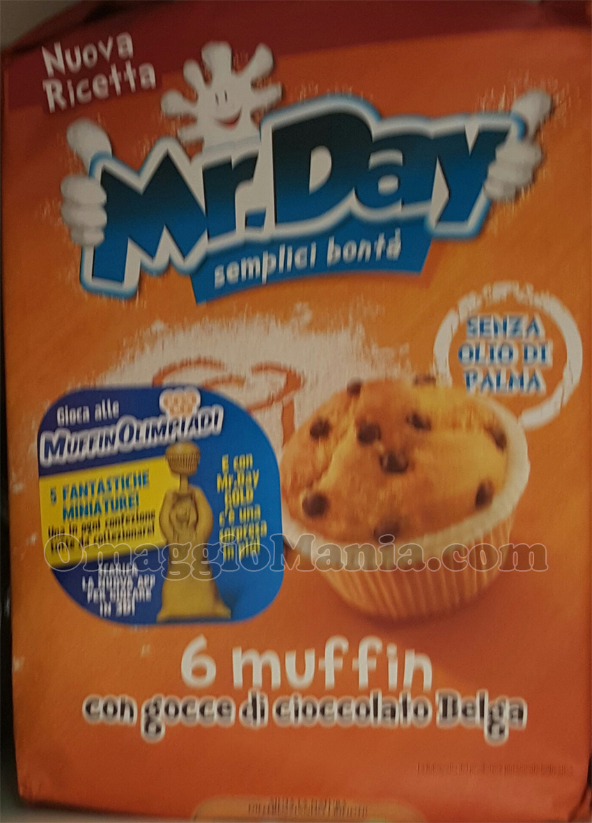 confezione Mr.Day con miniatura MuffinOlimpiadi