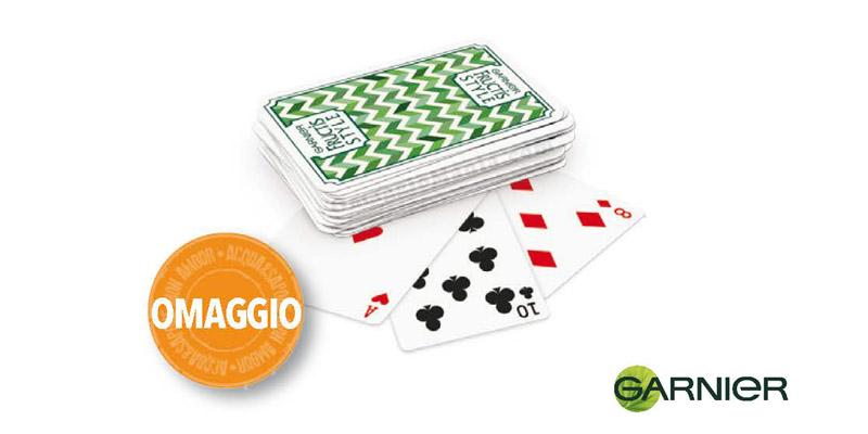 mazzo di carte Fructis Style Garnier omaggio