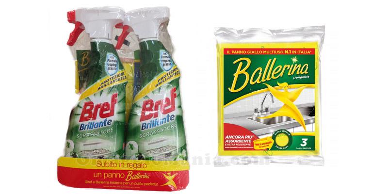 panno Ballerina omaggio con Bref Brillante Sgrassatore