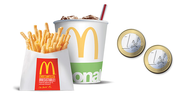 patatine bibita 2 euro McDonald's Mc in Time 4