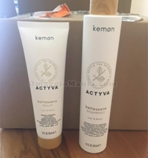shampoo e balsamo Actyva di Kemon di Martina