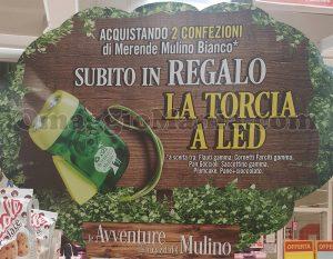 torcia led Mulino Bianco omaggio con 2 merende