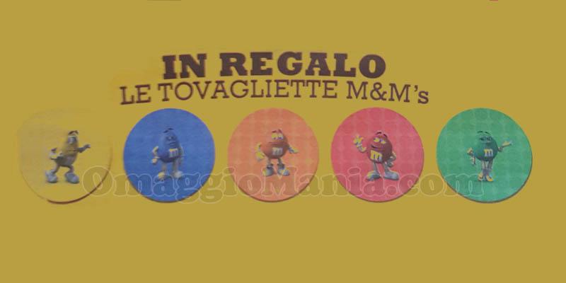 tovagliette M&M's omaggio