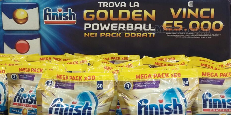trova la Golden Powerball e vinci con Finish