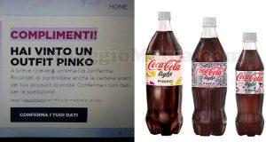 vincita outfit Pinko con Coca Cola di Valeria