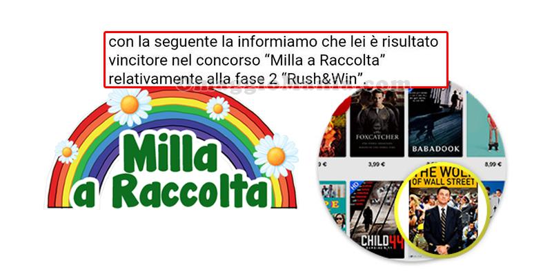 vincita rush&win Milla a Raccolta