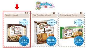 buoni sconto Mulino Bianco piadella, fette biscottate e crackers integrali