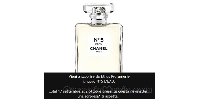 Chanel n.5 sorpresa omaggio email