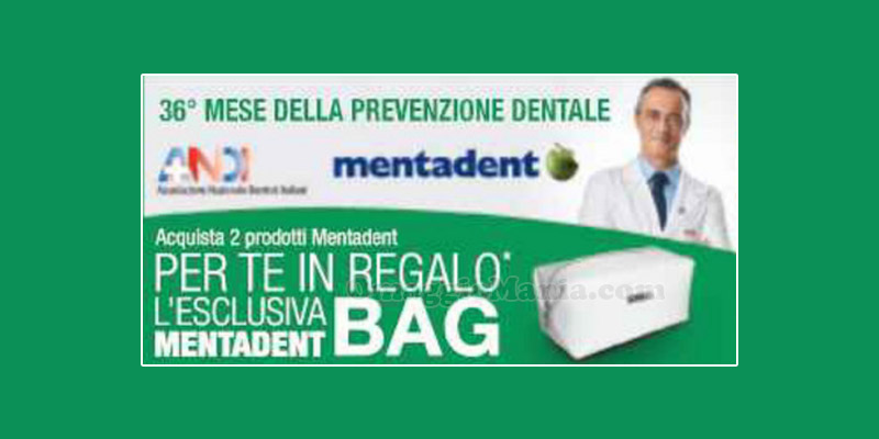 Mentadent Bag in regalo da Carrefour