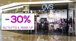 sconto 30% make up da OVS