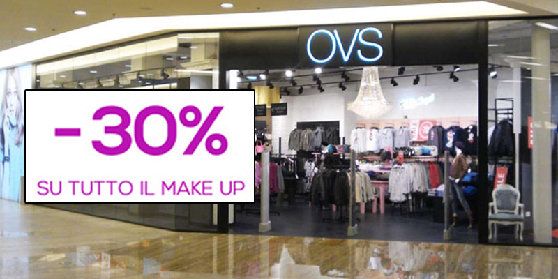 sconto 30% make up da OVS