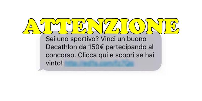 attenzione vinci buono Decathlon da 150 euro