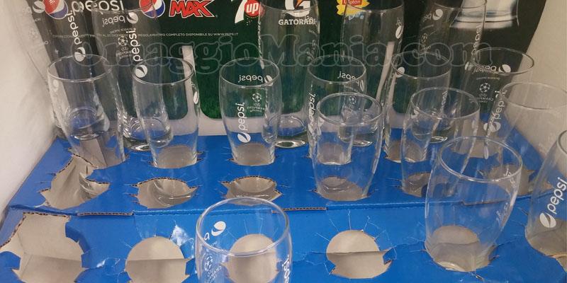 bicchieri vetro Pepsi Uefa Champions League.