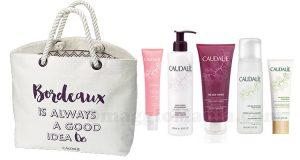 borsa e kit di prodotti Caudalie