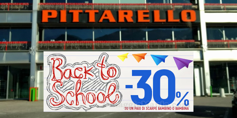 buono sconto Pittarello Back to School