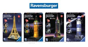 diventa tester Ravensburger puzzle 3D Buildings Night Edition