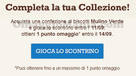 email punto omaggio Biscolatte con Mulino Verde