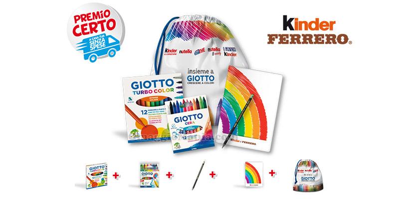 kit scuola Giotto 2016 con Kinder e Ferrero