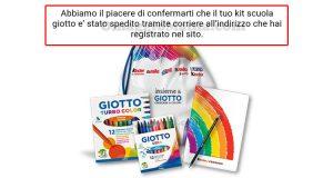 kit scuola Giotto 2016 spedito