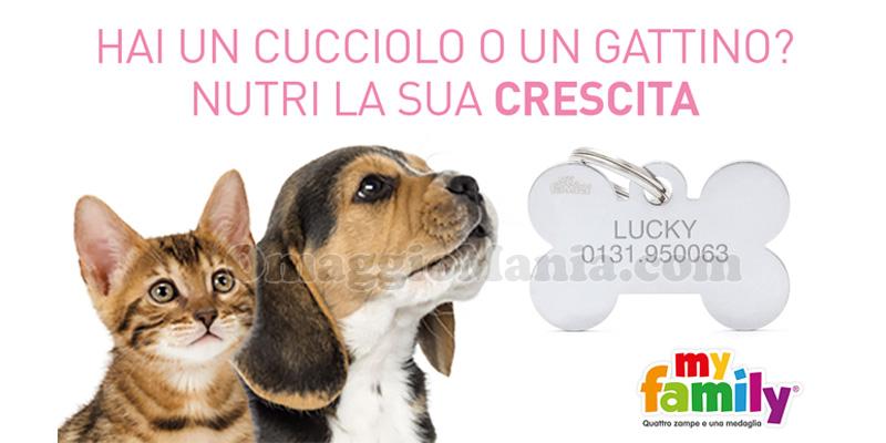 medaglietta Royal Canin con Nutri la sua crescita