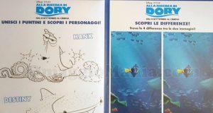 poster Kinder con giochi Alla ricerca di Dory