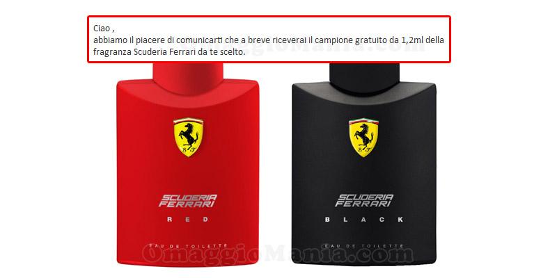 profumi Scuderia Ferrari in arrivo