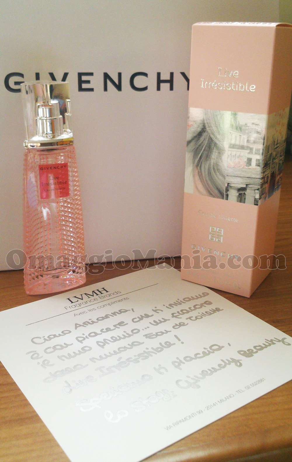 profumo Givency Live Irrésistible di Arianna