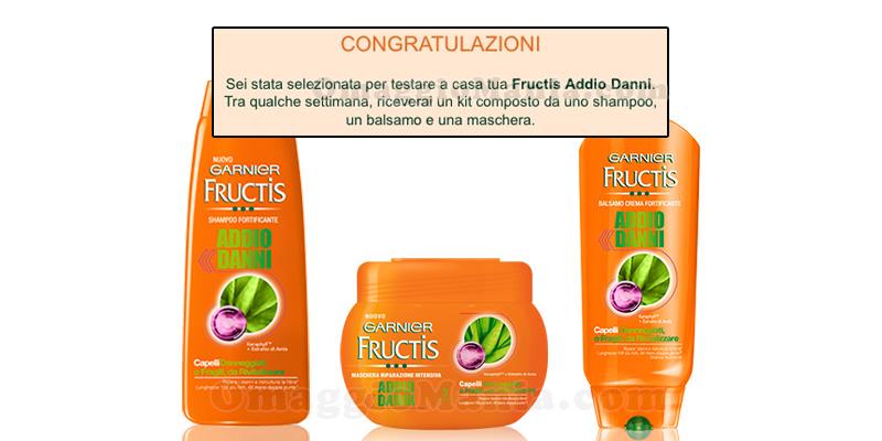 selezione tester Garnier Fructis Addio Danni
