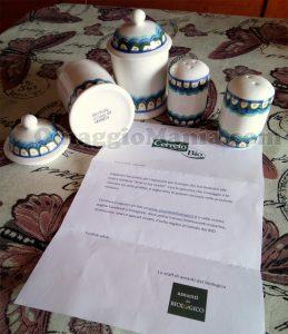 set ceramiche Cerreto di Anni