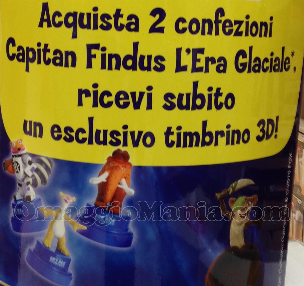 timbrini 3D omaggio con Findus da Conad