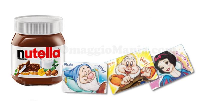 tovagliette Biancaneve e i sette nani con Nutella