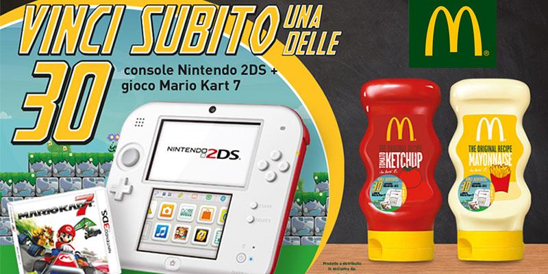 vinci Nintendo 2DS con Develey e McDonald's